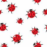 Abstract red bugs background.