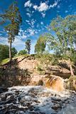 Boisterous waterfall
