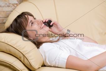 Beautiful woman talk on the phone
