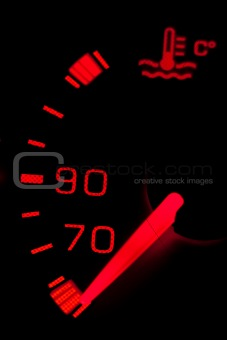 Car neon dashboard gauges