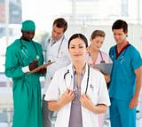 Group of doctors in the hospital