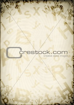 Grunge background with letters
