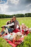 Lovely family enjoying the outdoors
