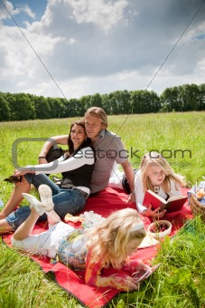 Lovely family enjoying the outdoors