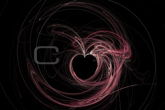Abstract Heart on black