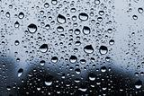 background made of water drops on glass
