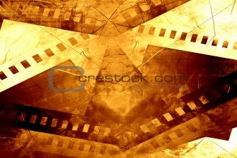 Old negative film strip