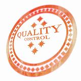 Red quality control stamp