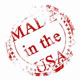 red postal stamp