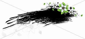 Grunge Flowers frame AD