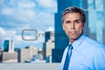 Grey-Haired Senior Executive in City