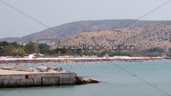 Organized Beach Remote View