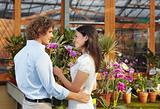 couple shopping in garden center