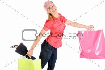 Cute Young Woman Shopping