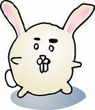 Fat bunny cartoon