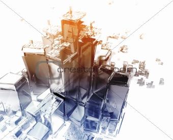 Exploding city