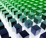 Cubes grid illustration