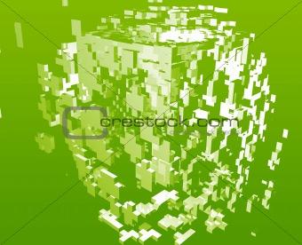Abstract explosion illustration