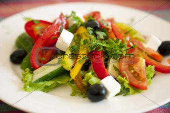 Greek Salad / background