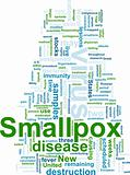 Smallpox word cloud