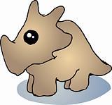 Fat triceratops dinosaur
