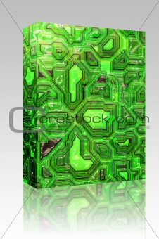 Abstract tech background box package