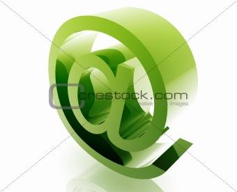 At symbol internet
