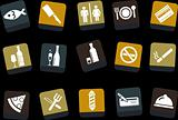 Bar and restaurant Icon Set
