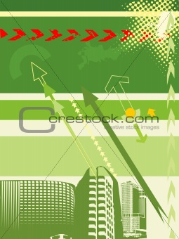 architecture background with arrow