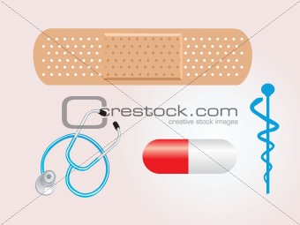 background with medical illustration