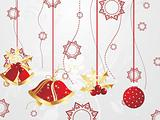 hanging christmas icons with background