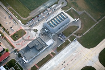 Brno International Airport from air