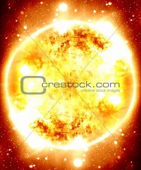 Glowing sun