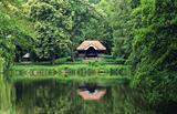 Small Pavilion At The Lake