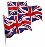 United Kingdom 3d flag.