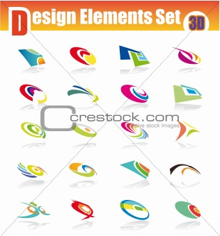 3D Design Elements Set