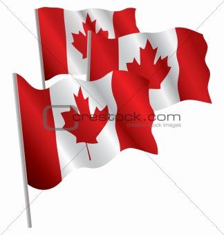 Canada 3d flag.