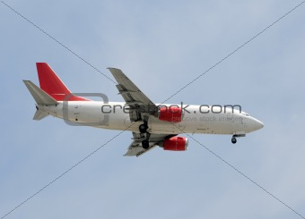 Cargo jet airplane
