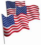 USA 3d flag.