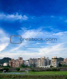 apartment and blue sky