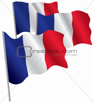 France 3d flag.