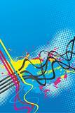 Squiggle Lines Splatter Vector