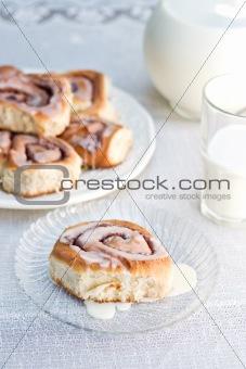 Cinnamon Buns and Milk