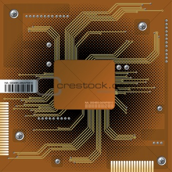 Abstract electronic background