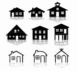 simple house vector illustrations