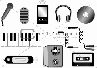 audio equipment illustration