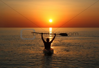 celebrating the sunrise