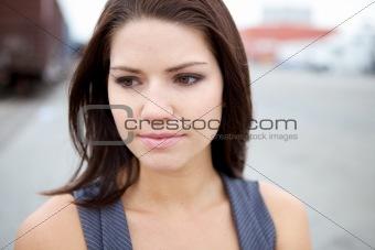 Emotional girl Looking at Camera