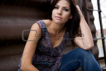 Beautiful Model sitting
