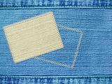 Background - texture jeans with label